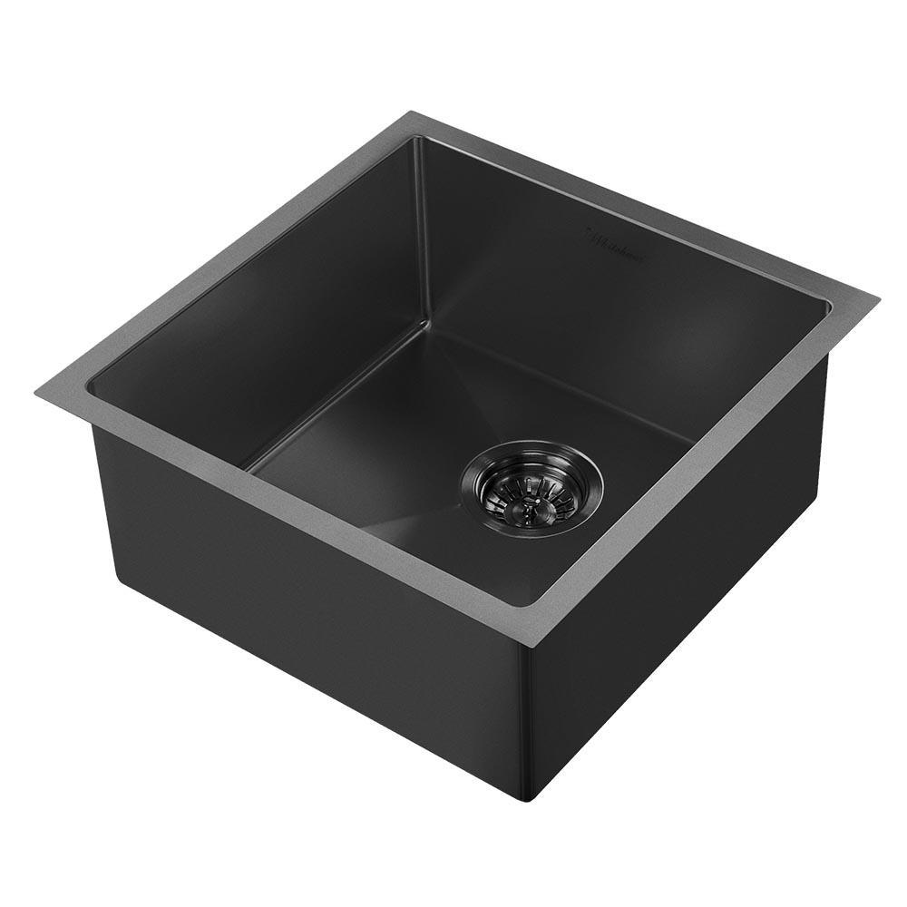 Noah Plus Dual Mount Stainless Steel 17-3/4 in. Single Bowl Kitchen Sink in Matte Black Sink Kit
