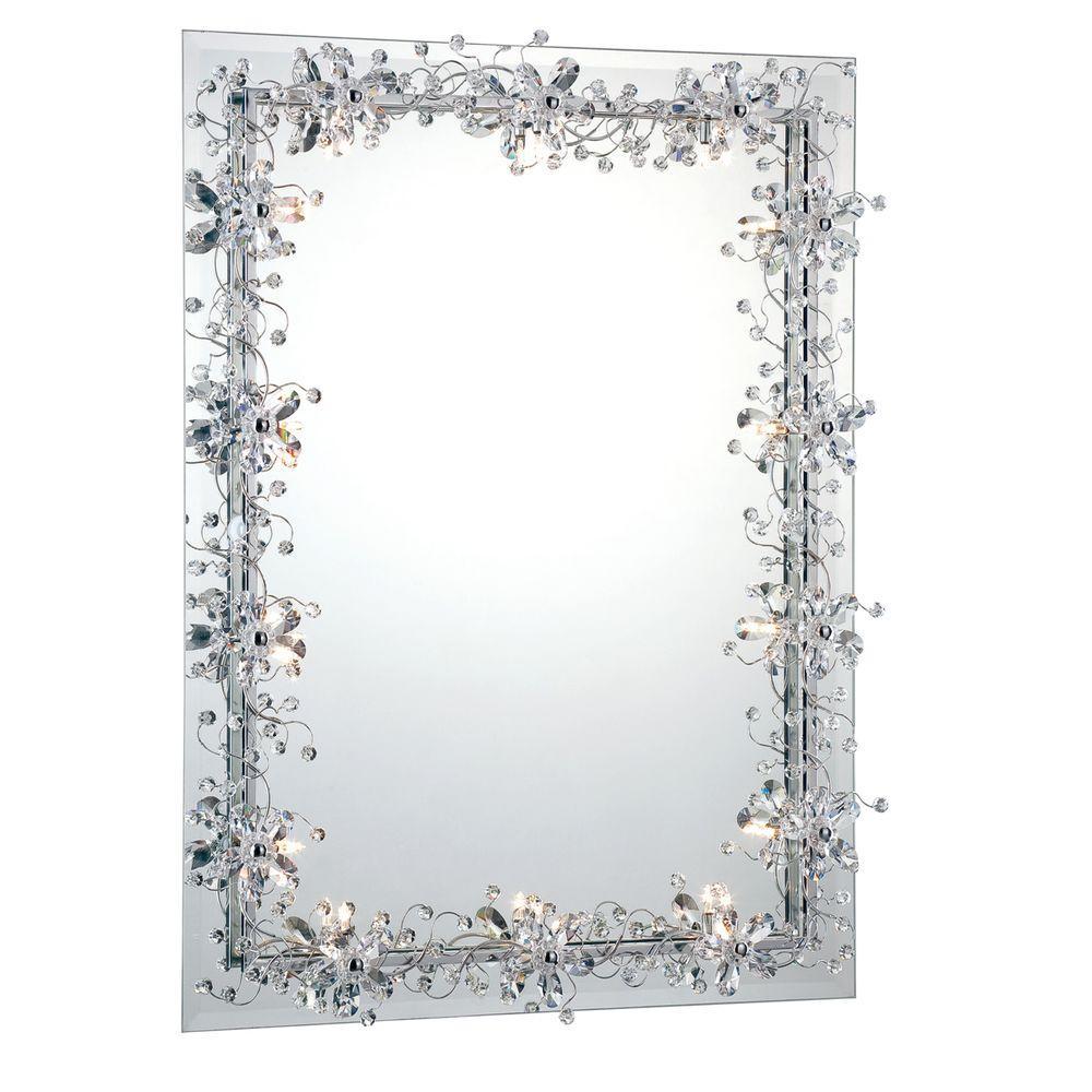 Eurofase Relic Collection 14-Light Chrome Mirror