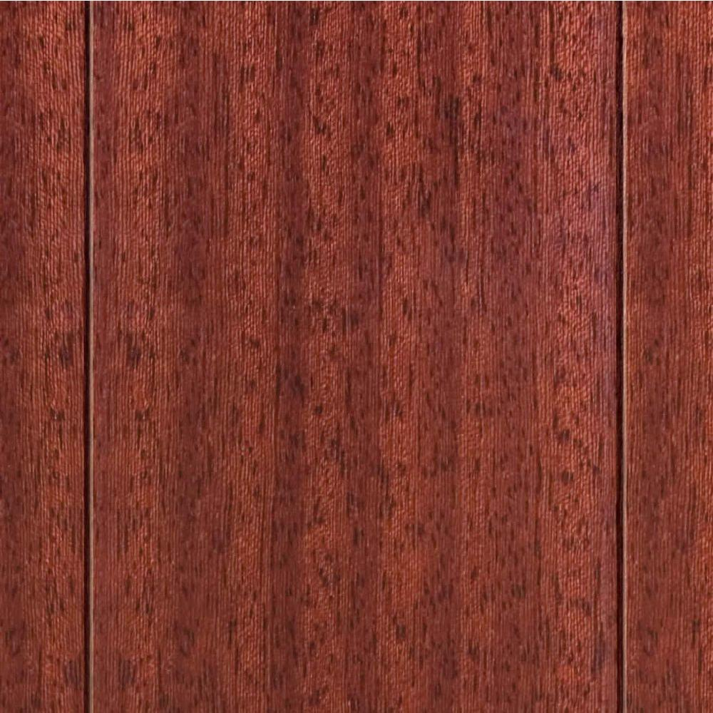 Home Legend High Gloss Santos Mahogany 5/8 in. T x 3-1/2 in. x 35-1/2 in. L Click Lock Hardwood Flooring(20.71 sq.ft.)-DISCONTINUED