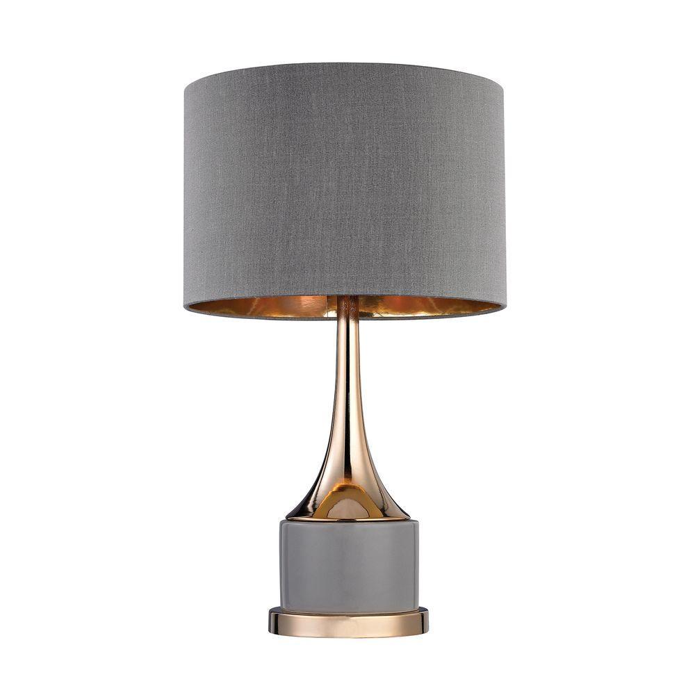 19 in. Small Gold Cone Neck Lamp