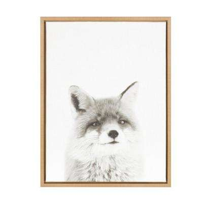 """24 in. x 18 in. """"Fox"""" by Tai Prints Framed Canvas Wall Art"""
