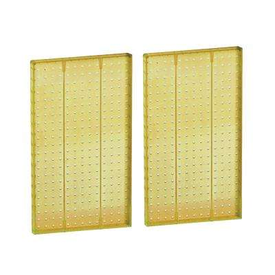 22 in H x 13.5 in W Pegboard Yellow Styrene One Sided Panel (2-Pieces per Box)
