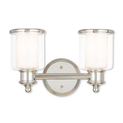 Middlebush 2-Light Polished Nickel Bath Light