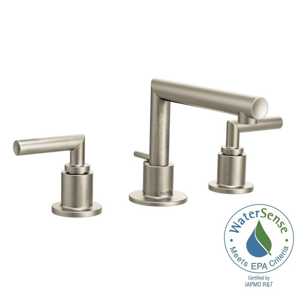 Arris 8 in. Widespread 2-Handle Bathroom Faucet Trim Kit in Brushed