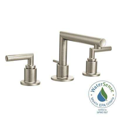 Arris 8 in. Widespread 2-Handle Bathroom Faucet Trim Kit in Brushed Nickel (Valve Not Included)