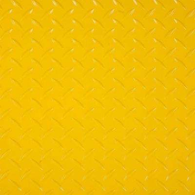 RaceDay 12 in. x 12 in. Yellow Peel and Stick Diamond Tread Polyvinyl Tile (20 sq. ft. / case)