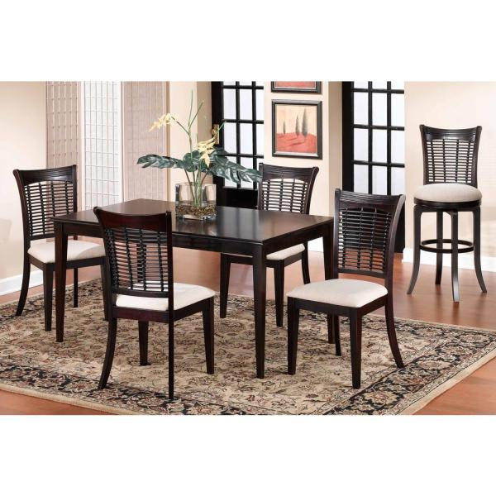 dark cherry dining room set | Hillsdale Furniture Bayberry 5-Piece Dark Cherry Dining ...