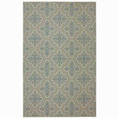 Woodbridge Modesto Blue 5 ft. x 8 ft. Indoor Area Rug