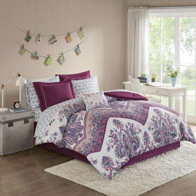 Bed In A Bag Purple Comforters Comforter Sets Bedding Bath