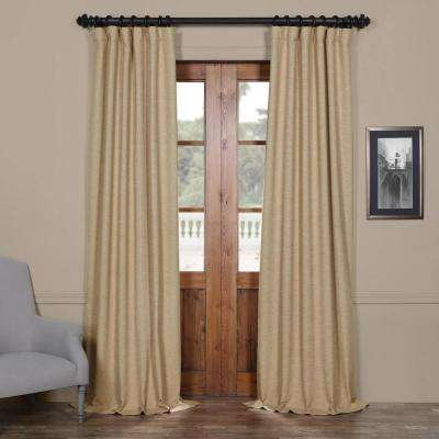 Semi-Opaque Ginger Tan Bellino Blackout Curtain - 50 in. W x 120 in. L (Panel)