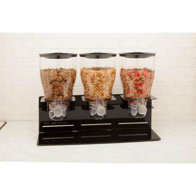 Commercial Plus Triple Canister Dispenser in Black