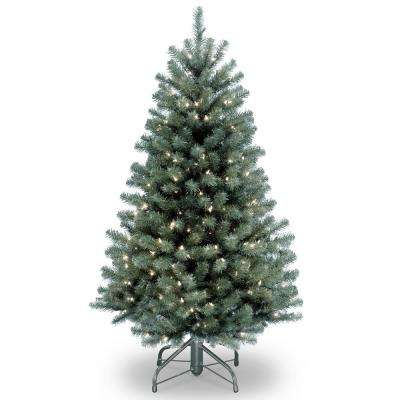 4.5 ft. North Valley Blue Spruce Tree with Clear Lights