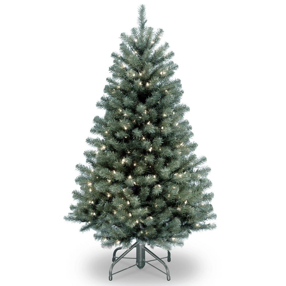 National Tree Company 4.5 ft. North Valley Blue Spruce Artificial ...