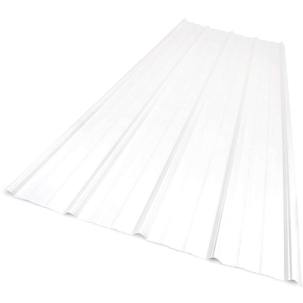 Sunsky 6 ft. SunSky 9 in. Polycarbonate Roof Panel in White Opal