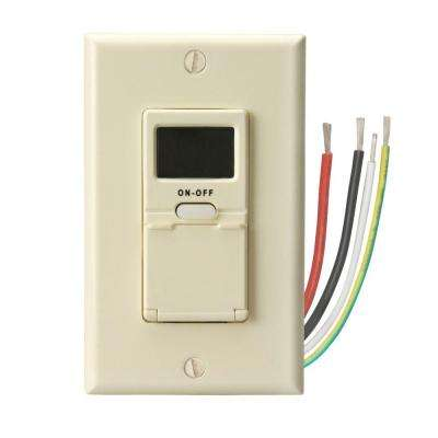 15 Amp 7-Day In-Wall Programmable Digital Timer Switch, Almond