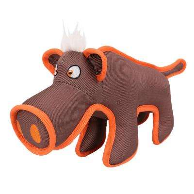 Brown Animal Dura-Chew Reinforce Stitched Durable Water Resistant Plush Chew Tugging Dog Toy