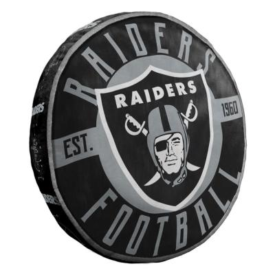 15 in. Raiders Multi Color Polyester Cloud Standard Pillow