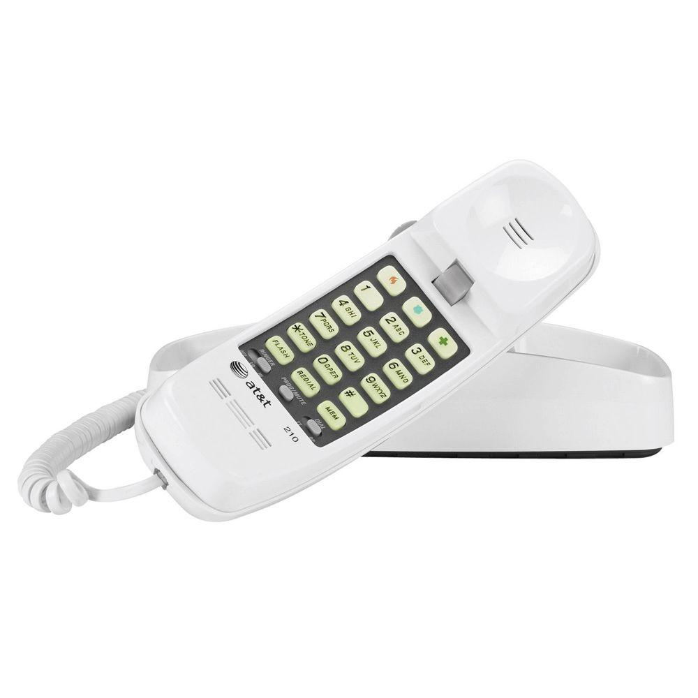 Trimline Telephone With Memory - White