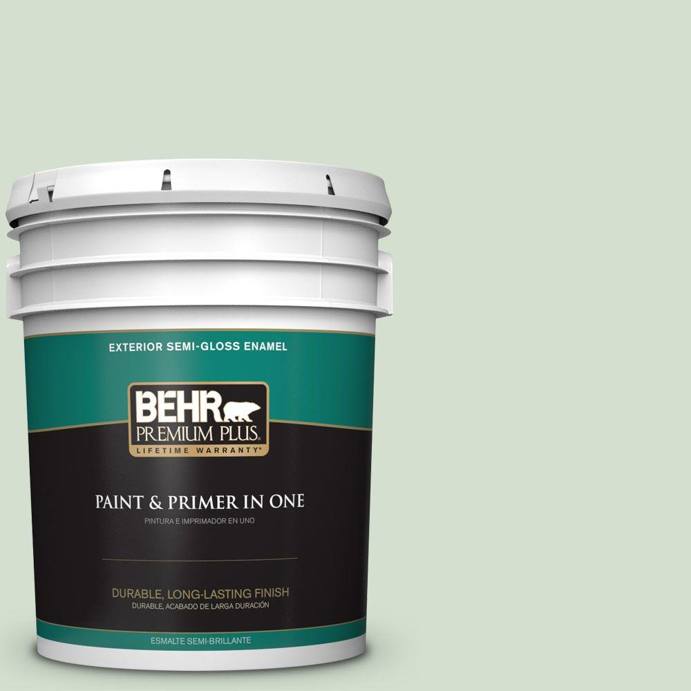 5-gal. #440E-2 Herbal Mist Semi-Gloss Enamel Exterior Paint