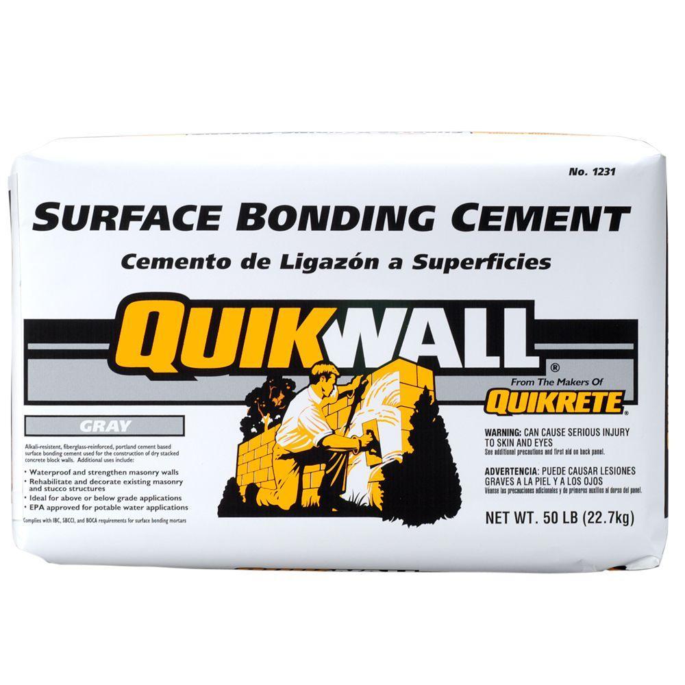 Quikrete Quikwall 50 lb. Gray Surface-Bonding Cement