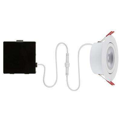 Slim Spot 4 in. 3000K New Construction and Remodel Canless Recessed Integrated LED Kit for Shallow Ceiling