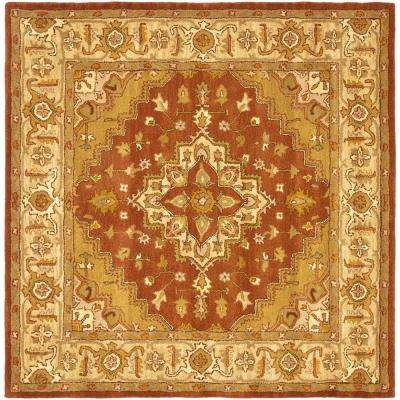 Heritage Rust/Gold 6 ft. x 6 ft. Square Area Rug