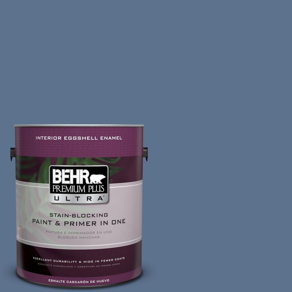 BEHR Premium Plus Ultra 1-Gal. #PPU14-1 Arrowhead Lake Eggshell Enamel Interior Paint