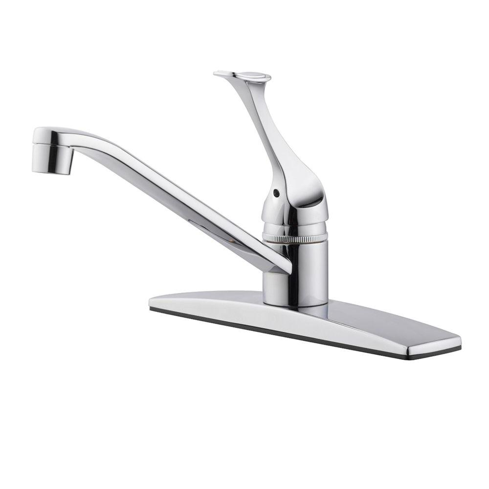 Design House Millbridge Single Handle Standard Kitchen Faucet In Polished Chrome 546002 The