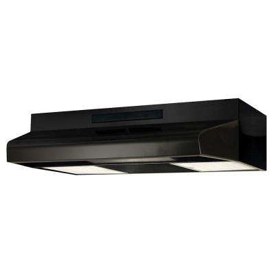 30 in. ENERGY STAR Qualified Convertible Under Cabinet Range Hood with Light in Black