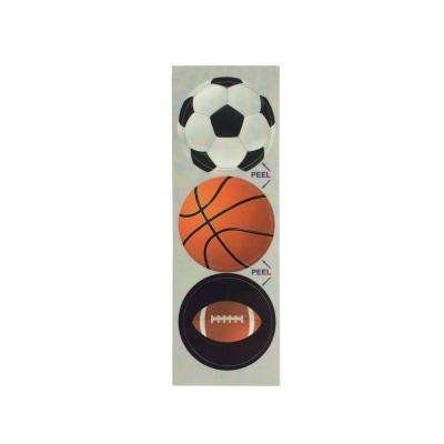 Contact Sports Decorative Bathroom Sink Stopper Laminates (Set of 3)