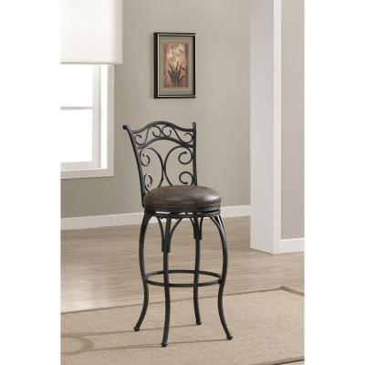 Solana 26 in. Graphite Cushioned Bar Stool