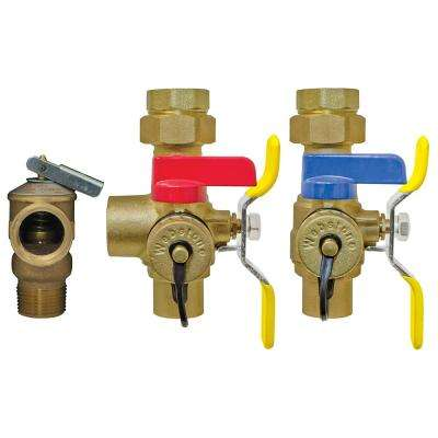 Isolator EXP 3/4 in. IPS Union x SWT Tankless Water Heater Service Valve Kit
