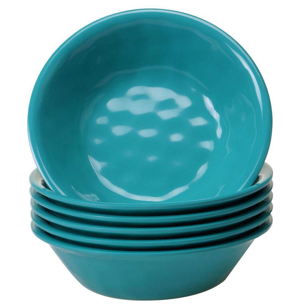 6-Piece Teal Bowl Set