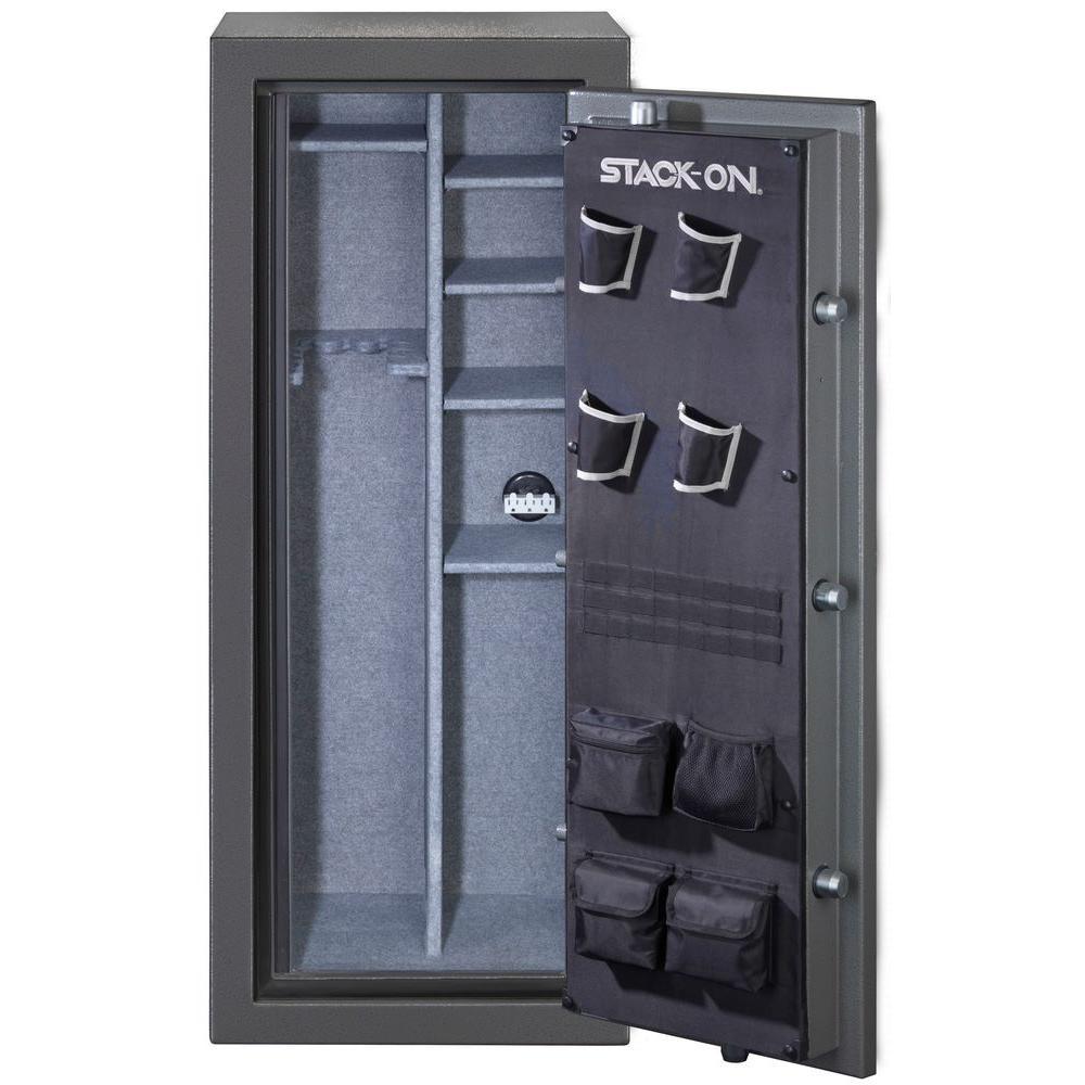 Total Defense 24 Gun Fire Waterproof Back Lit Electronic Lock Safe Gray Pebble Td 24 Gp E S