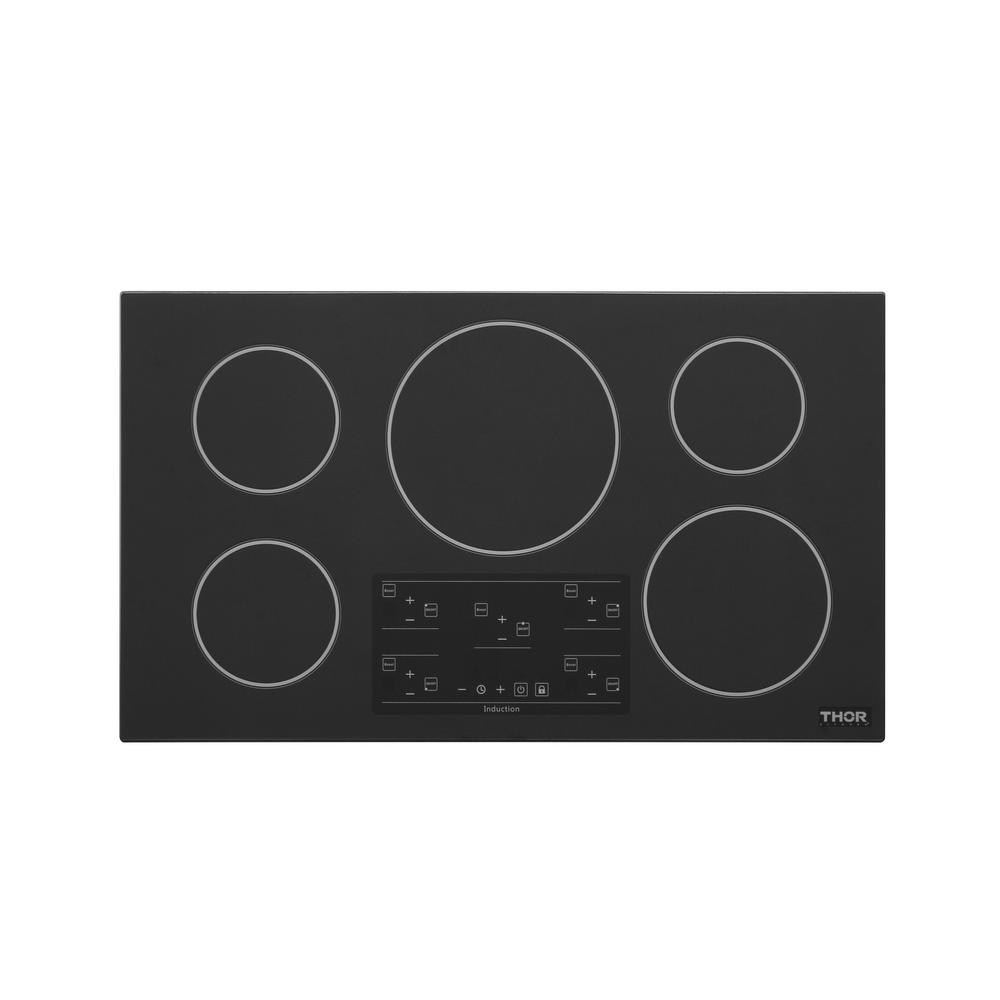 Thor Kitchen 36 in.  Glass Induction Cooktop in Black with 5 Elements