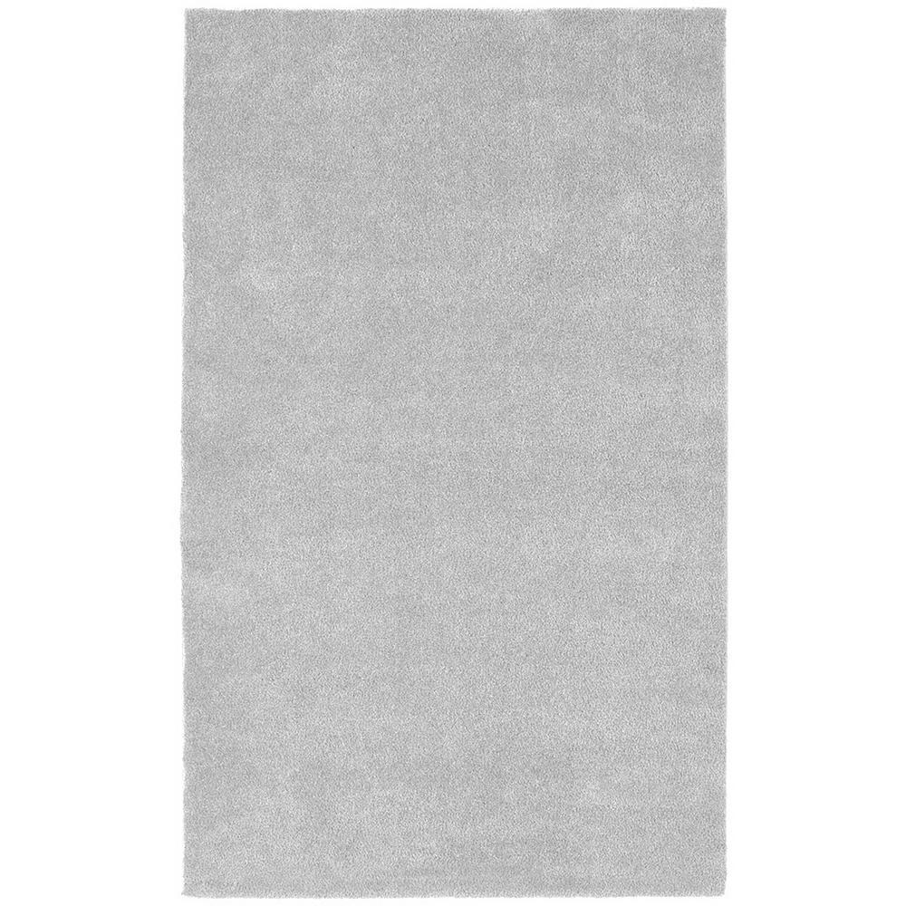 Room Size Platinum Gray 5 ft. x 8 ft. Plush Nylon Bath Rug