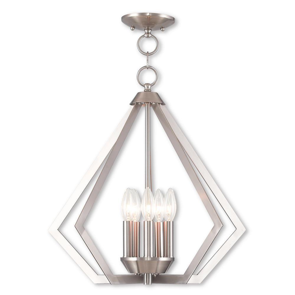 Prism 5-Light Brushed Nickel Chandelier
