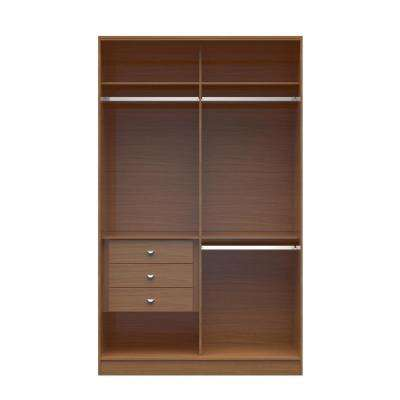 Chelsea 1.0 - 54.33 in. W Maple Cream Double Basic Wardrobe with 3-Drawers
