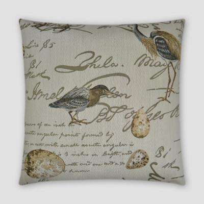 Birdsong Feather Down 20 in. x 20 in. Standard Decorative Throw Pillow