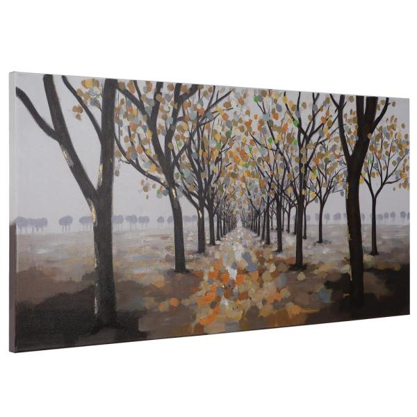 Yosemite Home Decor 27 5 In X 55 25 In Pathway Hand Painted Contemporary Artwork Artaa0482 The Home Depot