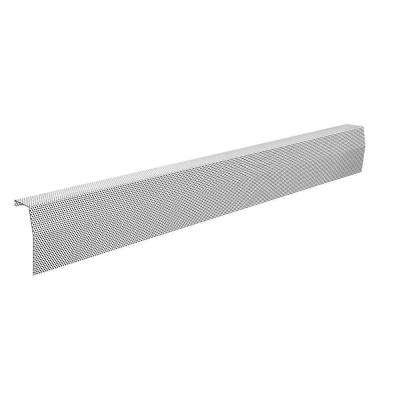 Premium Series 6 ft. Galvanized Steel Easy Slip-On Baseboard Heater Cover in White