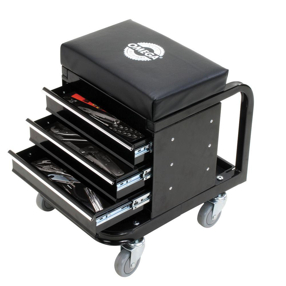 Omega 450 Lbs Mechanic S Toolbox Seat 92450 The Home Depot