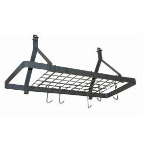 Click here to buy Rack It Up Rack It Up Rectangle Ceiling Pot Rack (Expandable) Steel Gray by Rack It Up.