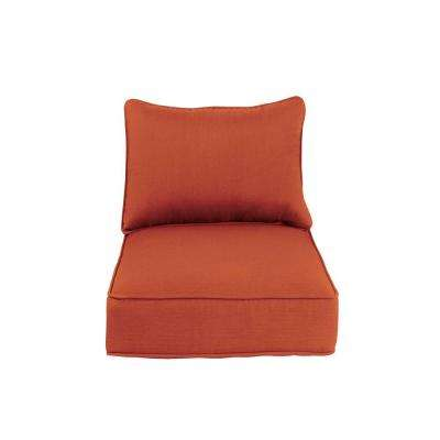 Greystone Replacement Outdoor Dining Chair Cushion in Cinnabar