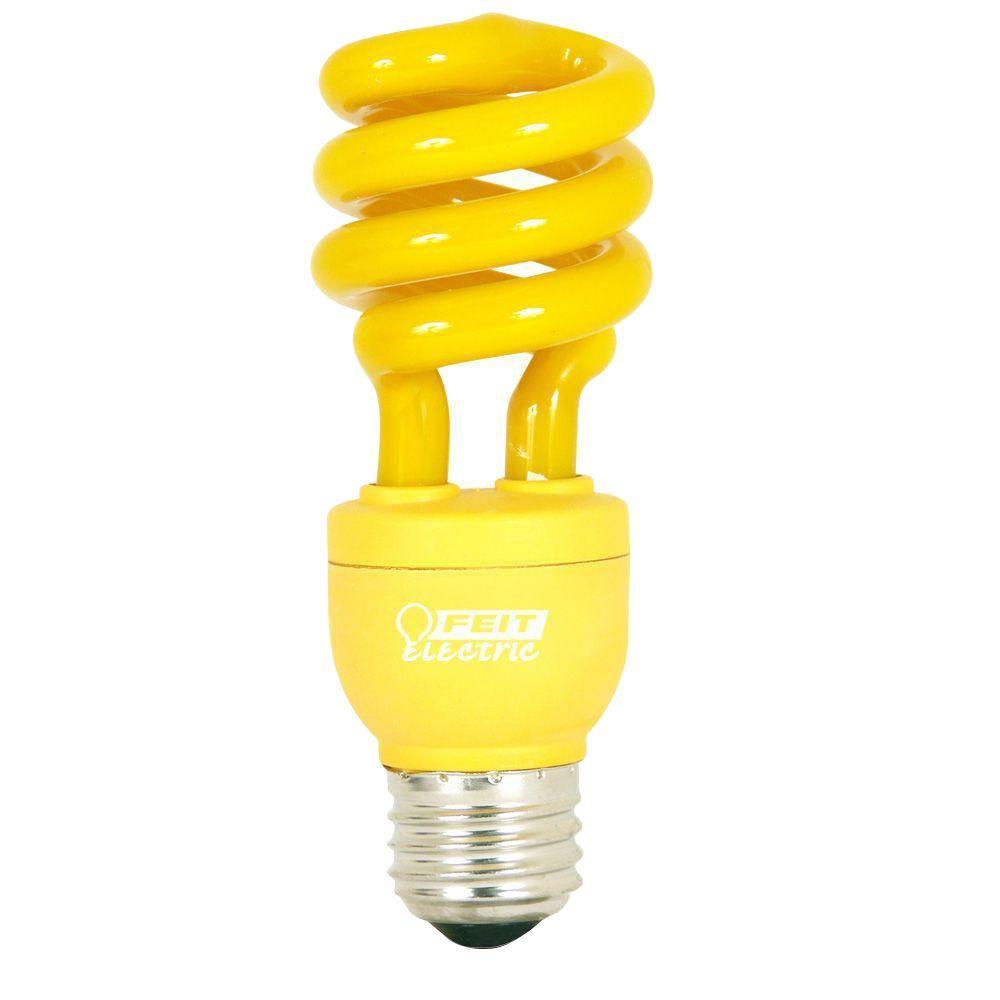 60-Watt Equivalent Yellow Spiral CFL Light Bulb