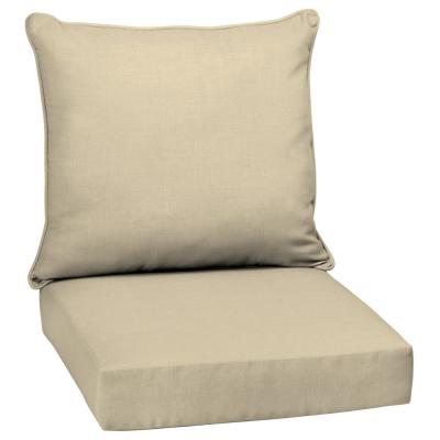 Beige Tan Outdoor Chair Cushions Outdoor Cushions The Home Depot