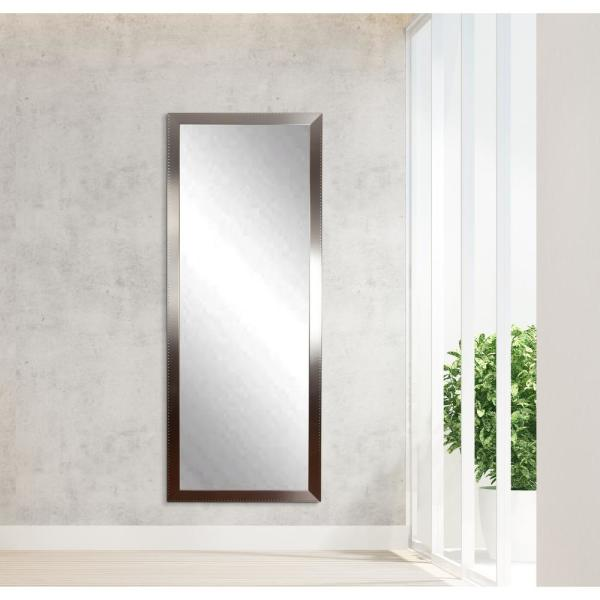 Oversized Silver Composite Industrial Modern Mirror (68.5 in. H X 23.5 in. W)