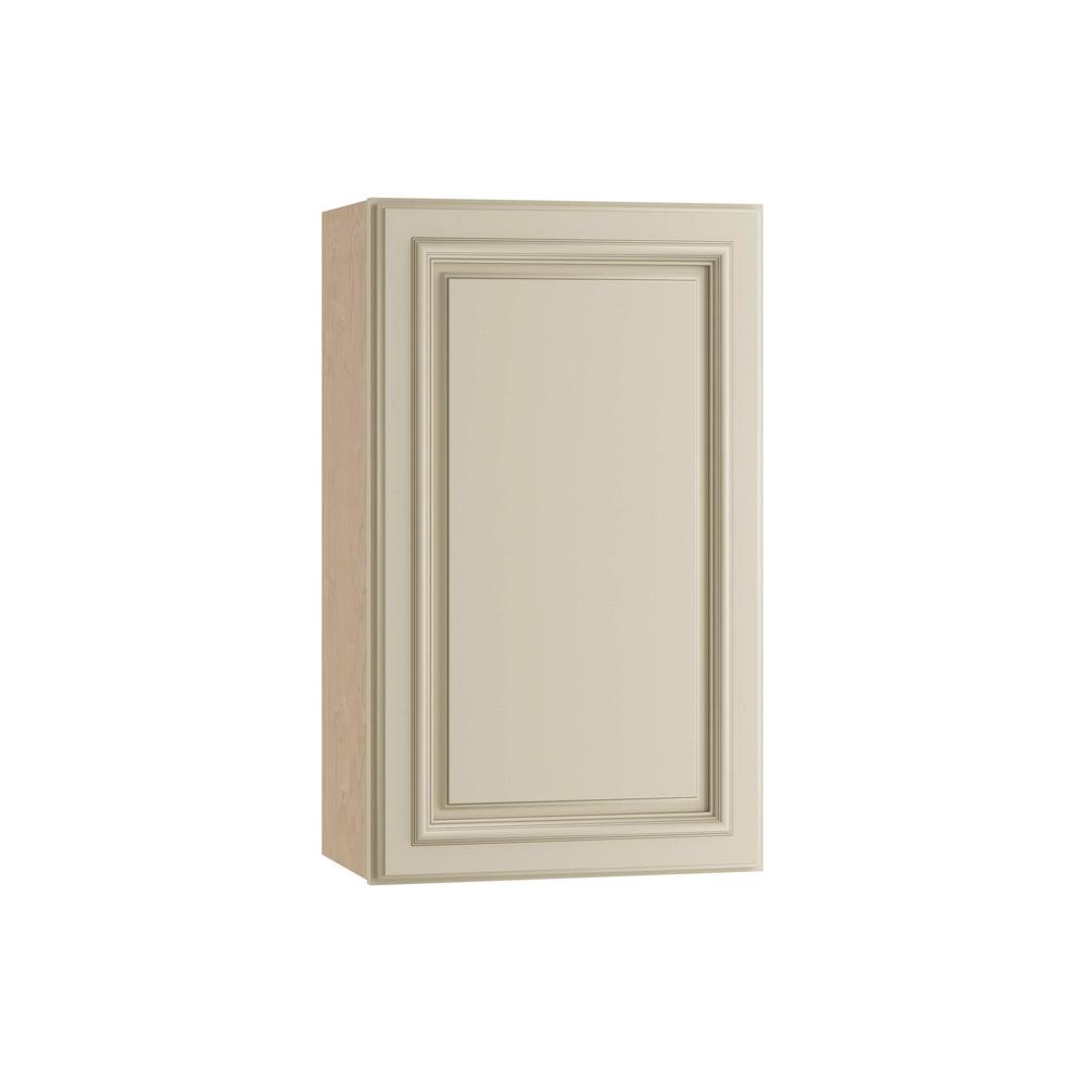 Home Decorators Collection Holden Assembled 21x30x12 in. Single Door Hinge Right Wall Kitchen Cabinet in Bronze Glaze