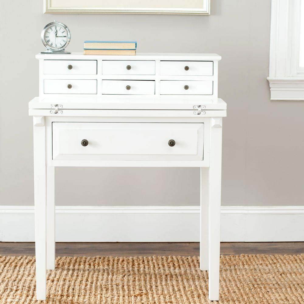 Safavieh Abigail White Desk With Drawers