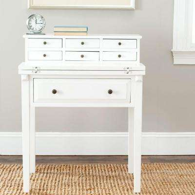 Abigail White Desk with Drawers
